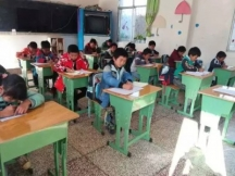 四川省会理县爱民乡乐学阳光希望小学收到爱心课桌椅